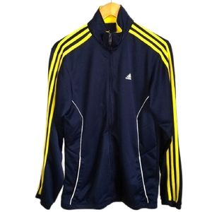 ADIDAS Navy Blue & Yellow Strippes Tracksuit Top